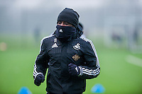 Thursday  21 January 2016<br /> Pictured: Marvin Emnes of Swansea <br /> Re: Swansea City Training Session at the Fairwood training ground