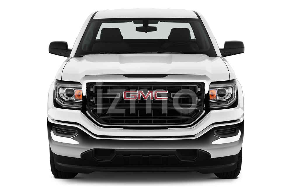 Car photography straight front view of a 2019 GMC Sierra 1500 Limited Base 4 Door Pick Up