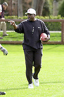 Wayne Moses during practices on April 8, 2002 at the practice field at Stanford, CA.<br />Photo credit mandatory: Gonzalesphoto.com