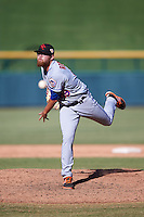 Scottsdale Scorpions pitcher David Roseboom (49), of the New York Mets organization, during a game against the Mesa Solar Sox on October 21, 2016 at Sloan Park in Mesa, Arizona.  Mesa defeated Scottsdale 4-3.  (Mike Janes/Four Seam Images)