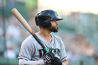 Dayton Dragons Matheu Nelson (31) bats during a game against the Fort Wayne TinCaps on August 25, 2021 at Parkview Field in Fort Wayne, Indiana.  (Mike Janes/Four Seam Images)