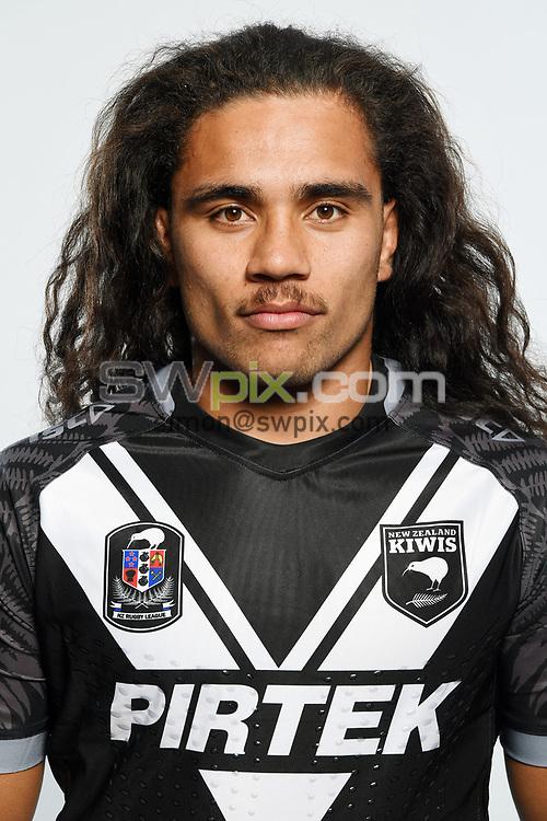Isaiah Papali'i.<br /> Headshots of the New Zealand Kiwis rugby league team, Auckland, New Zealand. 7 October 2018.<br /> Copyright photo: Andrew Cornaga / www.photosport.nz - ©PhotosportNZ/SWpix.com