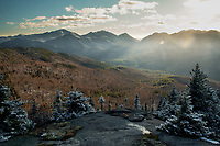Dusting of snow from the summit of Hopkins Mountain in the Adirondack Mountains of New York State