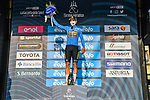 Wout Van Aert (BEL) Team Jumbo-Visma Stage 1 and wears the first leaders Maglia Azzurra of Tirreno-Adriatico Eolo 2021, running 156km from Lido di Camaiore to Lido di Camaiore, Italy. 10th March 2021. <br /> Photo: LaPresse/Gian Mattia D'Alberto   Cyclefile<br /> <br /> All photos usage must carry mandatory copyright credit (© Cyclefile   LaPresse/Gian Mattia D'Alberto)