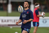 Jaocb Perry of London Scottish ahead of the Greene King IPA Championship match between London Scottish Football Club and Ealing Trailfinders at Richmond Athletic Ground, Richmond, United Kingdom on 8 September 2018. Photo by David Horn.