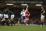 Referee Alain Rolland<br /> <br /> 2013 Dove Men Series<br /> Wales v South Africa<br /> Millennium Stadium<br /> 09.11.13<br /> ©Steve Pope-Sportingwales