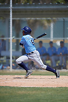 Tampa Bay Rays Eleardo Cabrera (60) during a minor league Spring Training game against the Baltimore Orioles on March 29, 2017 at the Buck O'Neil Baseball Complex in Sarasota, Florida.  (Mike Janes/Four Seam Images)