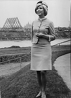 1966 FILE PHOTO - ARCHIVES -<br /> <br /> Montrealer; Sonia Saumier is one of the hostesses chosen for Expo. She speaks seven languages; plays tennis; skindives and skis in spare time.<br /> <br /> 1966<br /> <br /> PHOTO : Boris Spremo - Toronto Star Archives - AQP