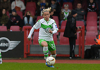 20151213 - KOELN , GERMANY : Wolfsburg 's Julia Simic pictured during the female soccer match between 1.FC Koln and 1. VFL Wolfsburg , on the 11th day of the German Bundesliga season 2015-2016 in sudstadion in Koln. Sunday 13 December 2015 . PHOTO DAVID CATRY