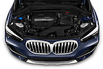 Car Stock 2020 BMW X1 X-Line 5 Door SUV Engine  high angle detail view
