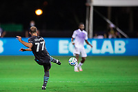 LAKE BUENA VISTA, FL - AUGUST 06: Chase Gasper #77 of Minnesota United FC kicks the ball during a game between Orlando City SC and Minnesota United FC at ESPN Wide World of Sports on August 06, 2020 in Lake Buena Vista, Florida.