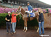 Melody Pomeroy winning on Owners Day at Delaware Park on 9/13/14