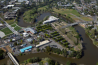 aerial photograph of the Oxbow District, City of Napa, California