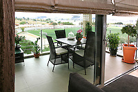 contemporary outdoor lounge set<br /> <br /> A luxury modern condominium in Alimos, a southern suburb of Athens, Greece, with two swimming pools, private gym, spa and sauna.