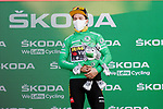Primoz Roglic (SLO) Team Jumbo-Visma wins Stage 8 and retains the Green Jersey of the Vuelta Espana 2020 running 160km from Logroño to Alto de Moncalvillo, Spain. 28th October 2020.   <br /> Picture: Luis Angel Gomez/PhotoSportGomez | Cyclefile<br /> <br /> All photos usage must carry mandatory copyright credit (© Cyclefile | Luis Angel Gomez/PhotoSportGomez)