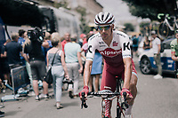 Reto Hollenstein (SUI/Katusha-Alpecin) at the race start<br /> <br /> 104th Tour de France 2017<br /> Stage 13 - Saint-Girons › Foix (100km)