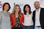 "Isabel Oriol (Lett,President of the Spanish Aginst Cancer Asociation)US singer ANASTACIA (Center Left) Mar Amate (center Right) and Javi Nieves (Right) at the presentation of her new album ""Resurrection"" an the Charity Concert ""Por Ellas"" at the Spanish Against Cancer Asociation (AECC) building in Madrid, Spain. May 20, 2014. (ALTERPHOTOS/Carlos Dafonte)"
