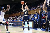 DURHAM, NC - JANUARY 26: Lotta-Maj Lahtinen #31 of Georgia Tech shoots the ball during a game between Georgia Tech and Duke at Cameron Indoor Stadium on January 26, 2020 in Durham, North Carolina.