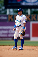 Lexington Legends second baseman Julio Gonzalez (8) during a game against the Rome Braves on May 23, 2018 at Whitaker Bank Ballpark in Lexington, Kentucky.  Rome defeated Lexington 4-1.  (Mike Janes/Four Seam Images)