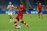 23rd September 2021;  Stadio Olimpicom, Roma, Italy; Serie A League Football, Roma versus Udinese; Jordan Veretout of  AS Roma