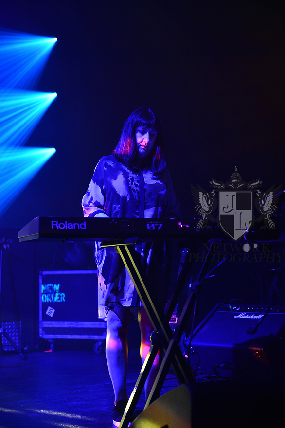 MIAMI BEACH, FLORIDA - JANUARY 18: Gillian Gilbert of New Order performs on stage at the Fillmore Miami Beach at the Jackie Gleason Theater on January 18, 2020 in Miami Beach, Florida.  ( Photo by Johnny Louis / jlnphotography.com )