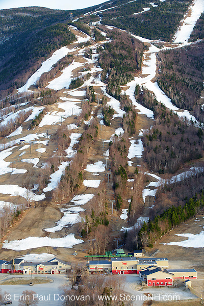 Franconia Notch State Park - Cannon Mountain in the White Mountains of New Hampshire during the spring months after they ski mountain has closed for the season.