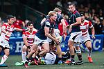 Jamie Hood of Hong Kong (C) in action during the Asia Rugby Championship 2017 match between Hong Kong and Japan on May 13, 2017 in Hong Kong, China. Photo by Marcio Rodrigo Machado / Power Sport Images