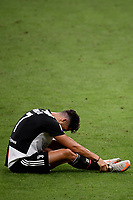 Cristiano Ronaldo of Juventus reacts during the Serie A football match between AC Milan and Juventus FC at stadio San Siro in Milan ( Italy ), July 7th, 2020. Play resumes behind closed doors following the outbreak of the coronavirus disease. <br /> Photo Federico Tardito / Insidefoto