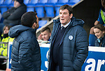 St Johnstone v Kilmarnock…02.12.17…  McDiarmid Park…  SPFL<br />Saints boss Tommy Wright talks with assistant Callum Davidson<br />Picture by Graeme Hart. <br />Copyright Perthshire Picture Agency<br />Tel: 01738 623350  Mobile: 07990 594431