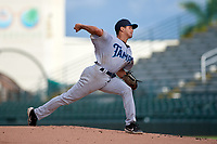 Tampa Tarpons pitcher Blas Castano (10) during Game One of the Low-A Southeast Championship Series against the Bradenton Marauders on September 21, 2021 at LECOM Park in Bradenton, Florida.  (Mike Janes/Four Seam Images)