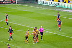 Hull players celebrate Josh Magennis' equaliser to make the score 1-1. Hull 2 Sunderland 2, League One 20th April 2021.