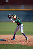 William Thorp during the Under Armour All-America Pre-Season Tournament, powered by Baseball Factory, on January 19, 2019 at Sloan Park in Mesa, Arizona.  William Thorp is a shortstop / right handed pitcher from Fort Myers, Florida who attends Gateway Charter School.  (Mike Janes/Four Seam Images)