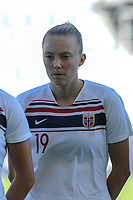 20200310 Faro , Portugal : Norwegian forward Synne Sofie Kinden Jensen (19) pictured during the female football game between the national teams of New Zealand and Norway on the third matchday of the Algarve Cup 2020 , a prestigious friendly womensoccer tournament in Portugal , on Tuesday 10 th March 2020 in Faro , Portugal . PHOTO SPORTPIX.BE | STIJN AUDOOREN