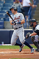 Detroit Tigers second baseman Ian Kinsler (3) at bat during a Spring Training game against the New York Yankees on March 2, 2016 at George M. Steinbrenner Field in Tampa, Florida.  New York defeated Detroit 10-9.  (Mike Janes/Four Seam Images)