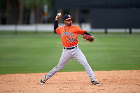 Houston Astros Antonio Nunez (50) during a minor league Spring Training game against the Detroit Tigers on March 30, 2016 at Tigertown in Lakeland, Florida.  (Mike Janes/Four Seam Images)