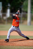 Miami Marlins pitcher Doug Domnarski (17) during a Minor League Spring Training Intrasquad game on March 27, 2018 at the Roger Dean Stadium Complex in Jupiter, Florida.  (Mike Janes/Four Seam Images)