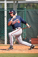 Atlanta Braves first baseman Brandon Drury #26 during an Instructional League game against the Pittsburgh Pirates at Pirate City on October 14, 2011 in Bradenton, Florida.  (Mike Janes/Four Seam Images)