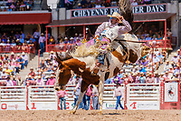 USA , Wyoming, Cheyenne, saddle bronc section  at 2017 Cheyenne Frontyer days