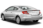 Rear three quarter view of a 2012 Honda Civic Coupe EX