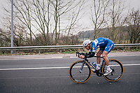 Philippe Gilbert (BEL/Quick Step floors) tucked in for speed<br /> <br /> 61th E3 Harelbeke (1.UWT)<br /> Harelbeke - Harelbeke (206km)