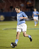 North Carolina forward Brian Shriver (31) dribbles the ball.  North Carolina Tar Heels defeated Wake Forest Demon Deacons 1-0 in the semifinal match of the NCAA Men's College Cup at Pizza Hut Park in Frisco, TX on December 12, 2008.  Photo by Wendy Larsen/isiphotos.com