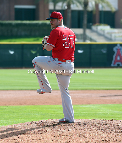 Dylan Bundy - Los Angeles Angels 2020 spring training (Bill Mitchell)