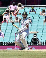 11th January 2021; Sydney Cricket Ground, Sydney, New South Wales, Australia; International Test Cricket, Third Test Day Five, Australia versus India; Manish Pandey of India watches the short ball