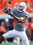Oklahoma State Cowboys cornerback Miketavius Jones (24) in action during the game between the Louisiana-Lafayette Ragin Cajuns and the Oklahoma State Cowboys at the Boone Pickens Stadium in Stillwater, OK. Oklahoma State defeats Louisiana-Lafayette 61 to 34.