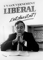 Montreal (QC) CANADA file photo - Paul Martin during the 1988  Liberal Party of canada leadership race.