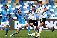 Fabian Ruiz of SSC Napoli and Josip Ilicic of Atalanta BC compete for the ball during the Serie A football match between SSC Napoli and Atalanta BC at San Paolo stadium in Naples (Italy), October 17th 2020. Photo Cesare Purini / Insidefoto