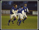 18/01/2003                   Copyright Pic : James Stewart.File Name : stewart-alloa v qots04.PETER WEATHERSON (LEFT) STARTS HIS CELEBRATION AFTER HE SCORES QUEEN OF THE SOUTH'S THIRD GOAL.....James Stewart Photo Agency, 19 Carronlea Drive, Falkirk. FK2 8DN      Vat Reg No. 607 6932 25.Office     : +44 (0)1324 570906     .Mobile  : +44 (0)7721 416997.Fax         :  +44 (0)1324 570906.E-mail  :  jim@jspa.co.uk.If you require further information then contact Jim Stewart on any of the numbers above.........