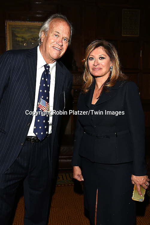 honorees Dick Ebersol and Maria Bartromo attend the Library of American Broadcasting  Annual Giants of Broadcasting Luncheon on October 6, 2016 at Gotham Hall in New York City. <br /> <br /> photo by Robin Platzer/Twin Images<br />  <br /> phone number 212-935-0770