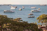 Zanzibar, Tanzania.  Boats in Zanzibar Harbor.  Sea Star I and Sea Star II are ferries making the run to Dar es Salaam.