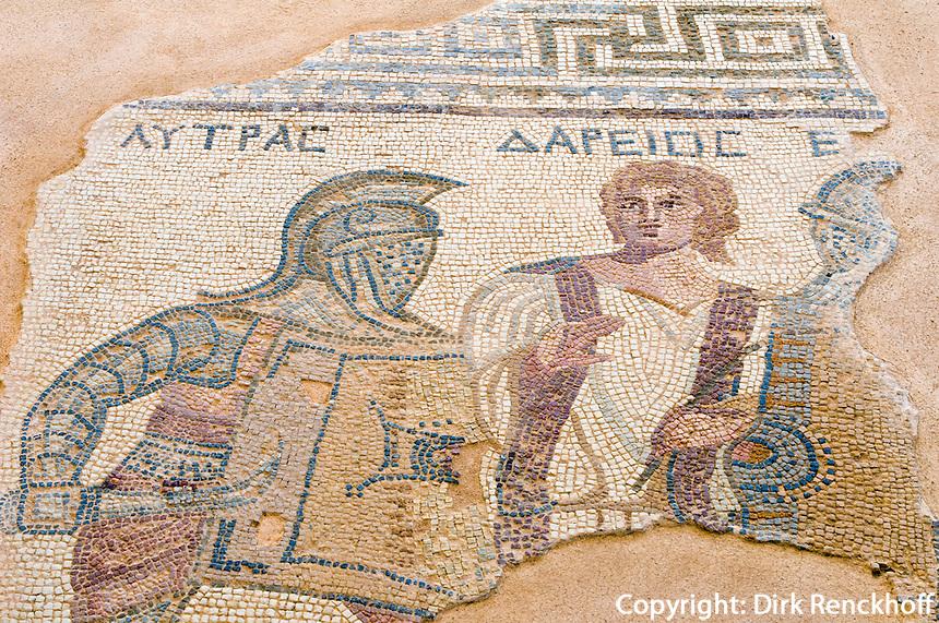Zypern (Süd), Boden-Mosaik im Haus der Gladiatoren in Kourion